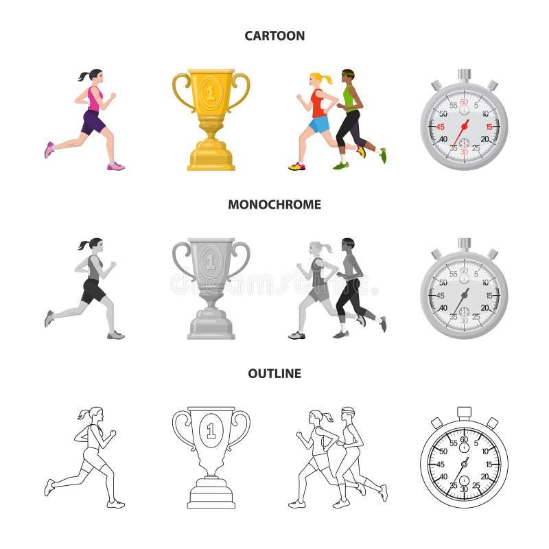 Иллюстрация вектора спорта и символа победителя Собрание значка вектора спорта и фитнеса для запаса иллюстрация вектора