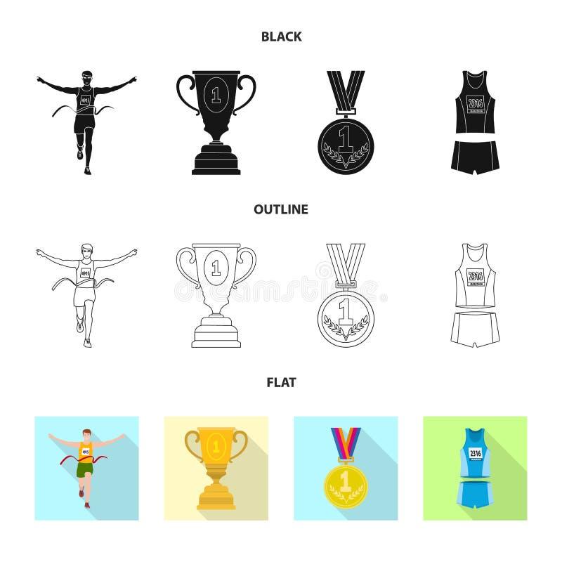 Иллюстрация вектора спорта и символа победителя r иллюстрация штока