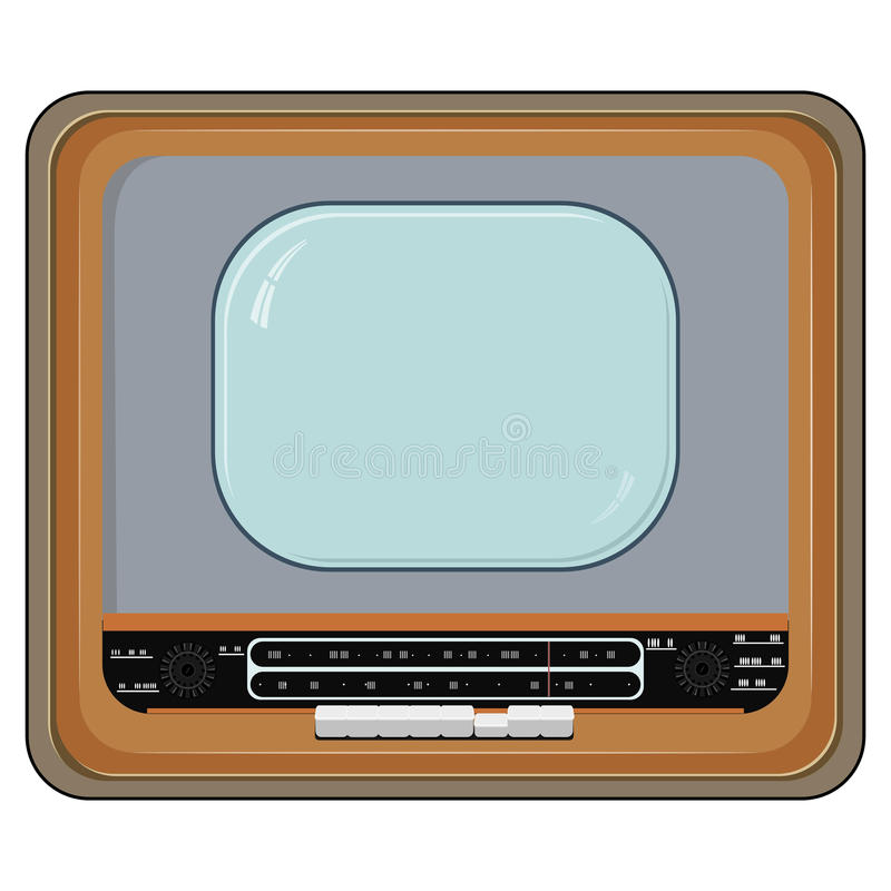 Иллюстрация вектора старого телевизора иллюстрация вектора