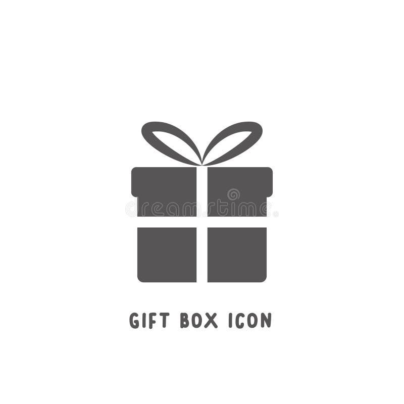 Иллюстрация вектора стиля значка подарочной коробки простая плоская иллюстрация вектора