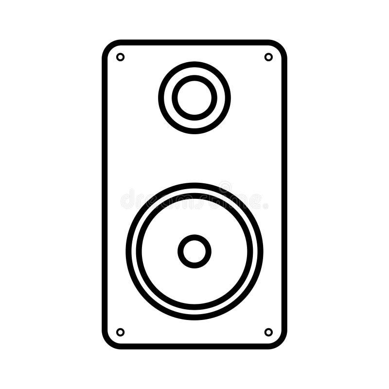 Иллюстрация вектора столбца музыки черно-белого плоского значка простого современного цифрового изолированного на белой предпосыл бесплатная иллюстрация