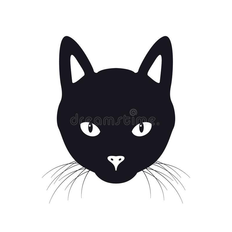 Иллюстрация вектора стороны черного кота иллюстрация штока