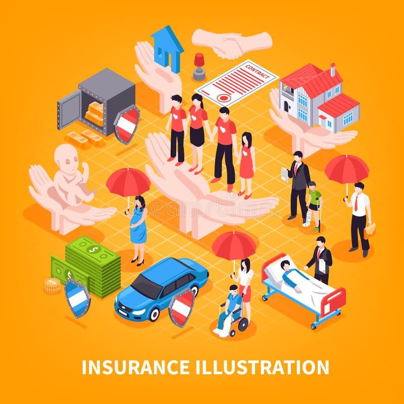 Иллюстрация вектора страхования равновеликая иллюстрация штока