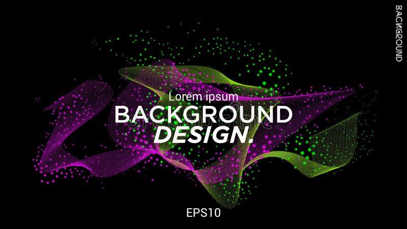Иллюстрация вектора с музыкальными волнами от пунктов Современный дизайн с динамическими элементами E 10 eps иллюстрация штока