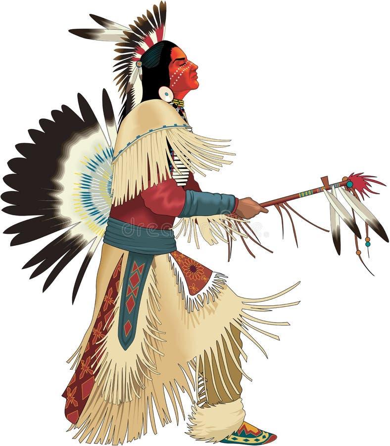 Иллюстрация вектора танцев коренного американца бесплатная иллюстрация