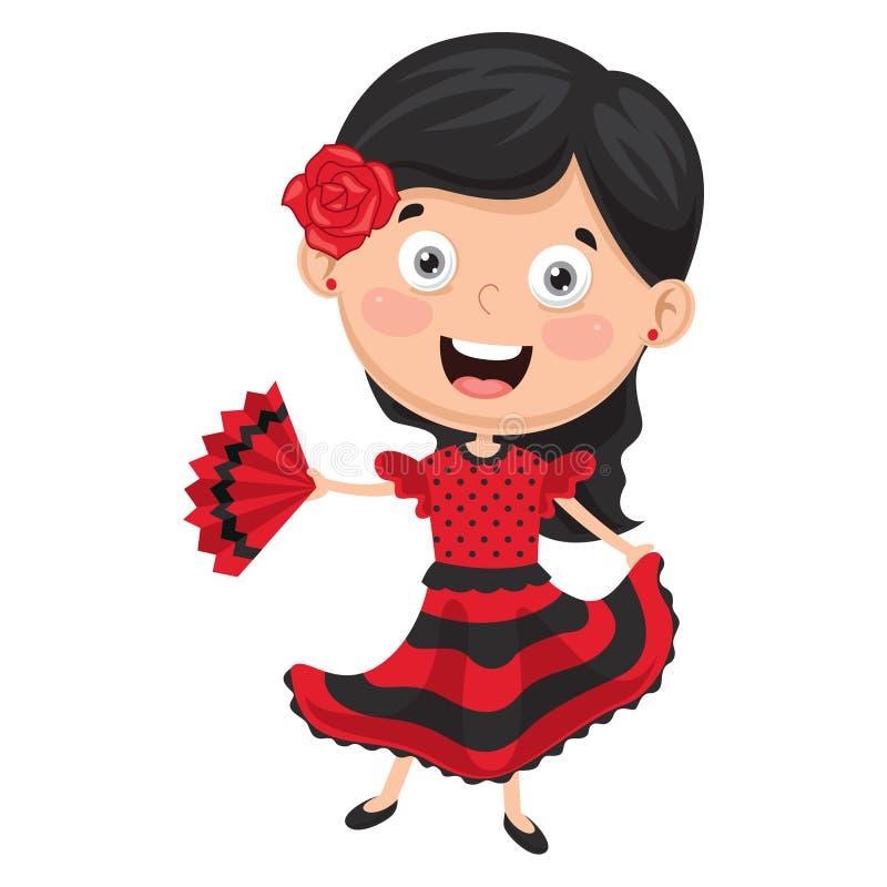 Иллюстрация вектора танцора фламенко иллюстрация штока