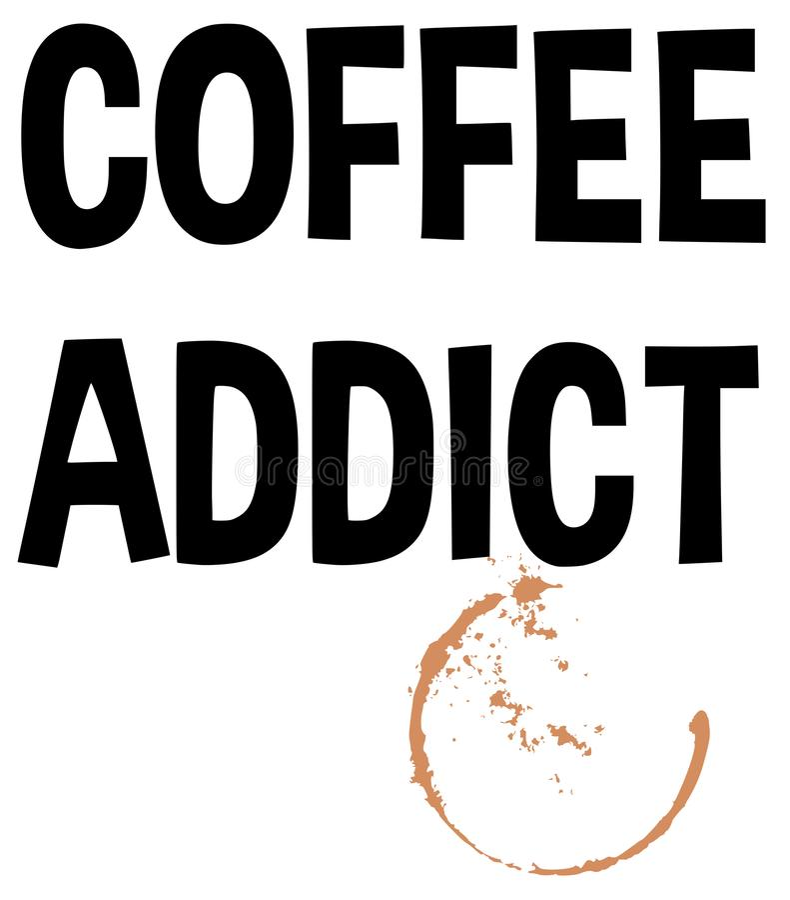 Иллюстрация вектора текста пятна выплеска наркомана кофе бесплатная иллюстрация