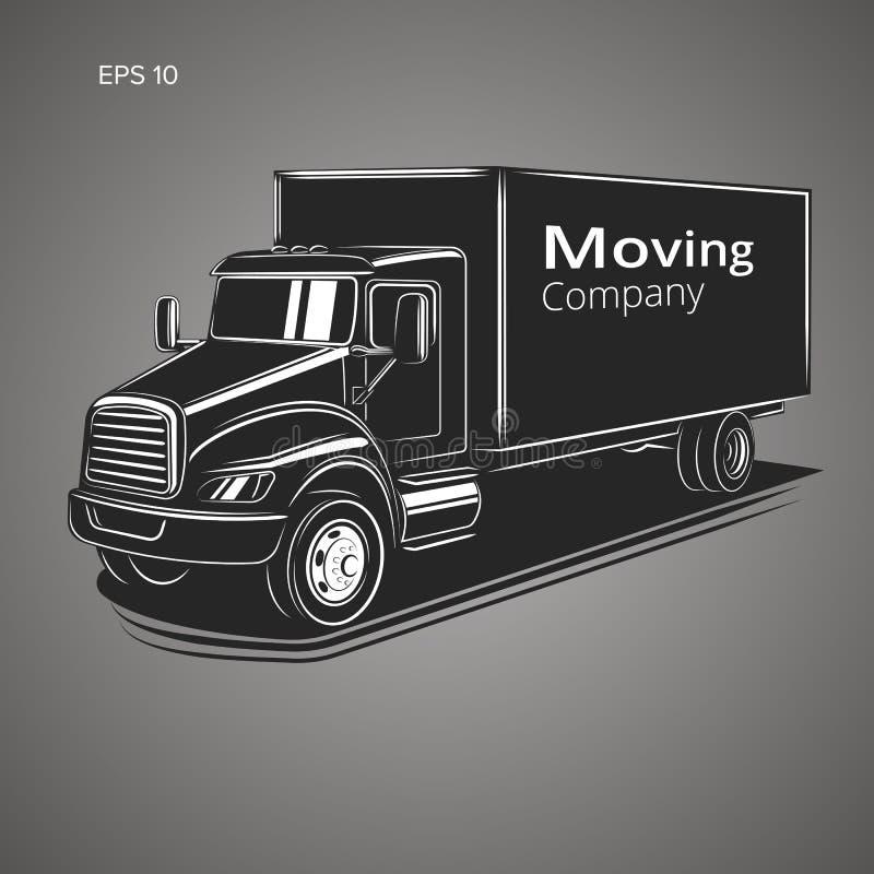 Иллюстрация вектора тележки транспортной компании Вектор тележки поставки иллюстрация штока