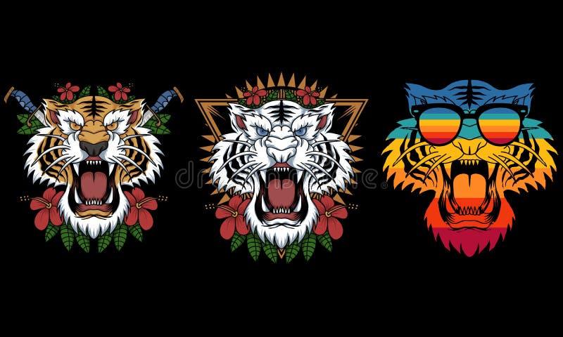 Иллюстрация вектора украшения тигра стоковые изображения rf