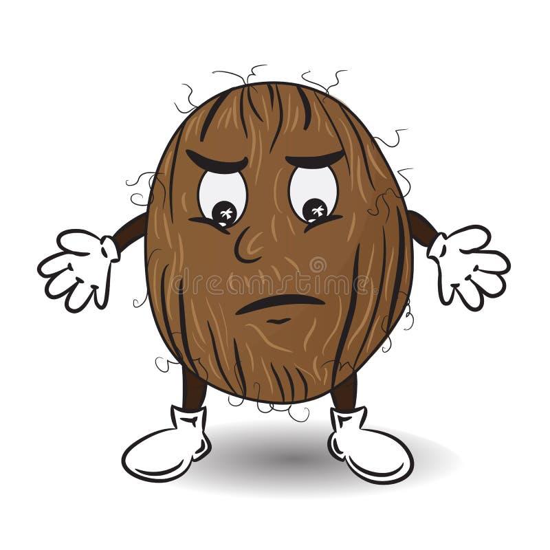 Иллюстрация вектора унылого кокоса иллюстрация вектора