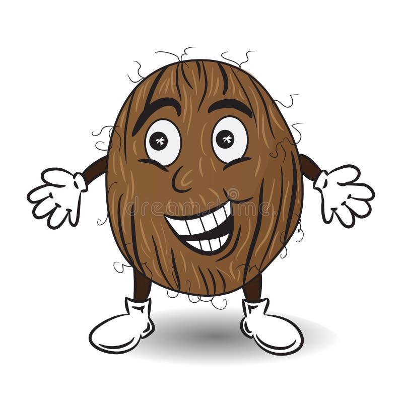 Иллюстрация вектора усмехаясь кокоса бесплатная иллюстрация