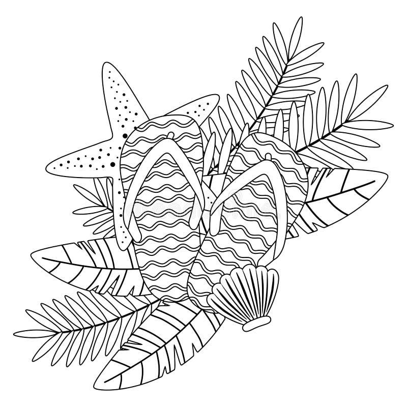 Иллюстрация вектора установленного дизайна значка лета и каникул иллюстрация вектора