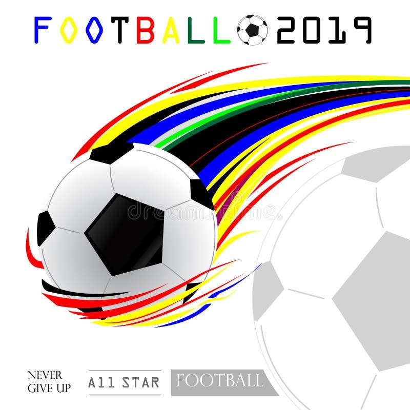 Иллюстрация вектора футбола 2019 иллюстрация вектора
