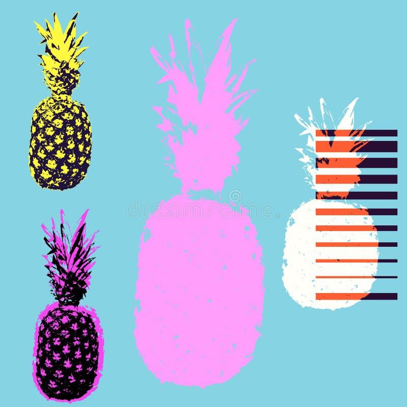 Иллюстрация вектора футболки ананаса бесплатная иллюстрация