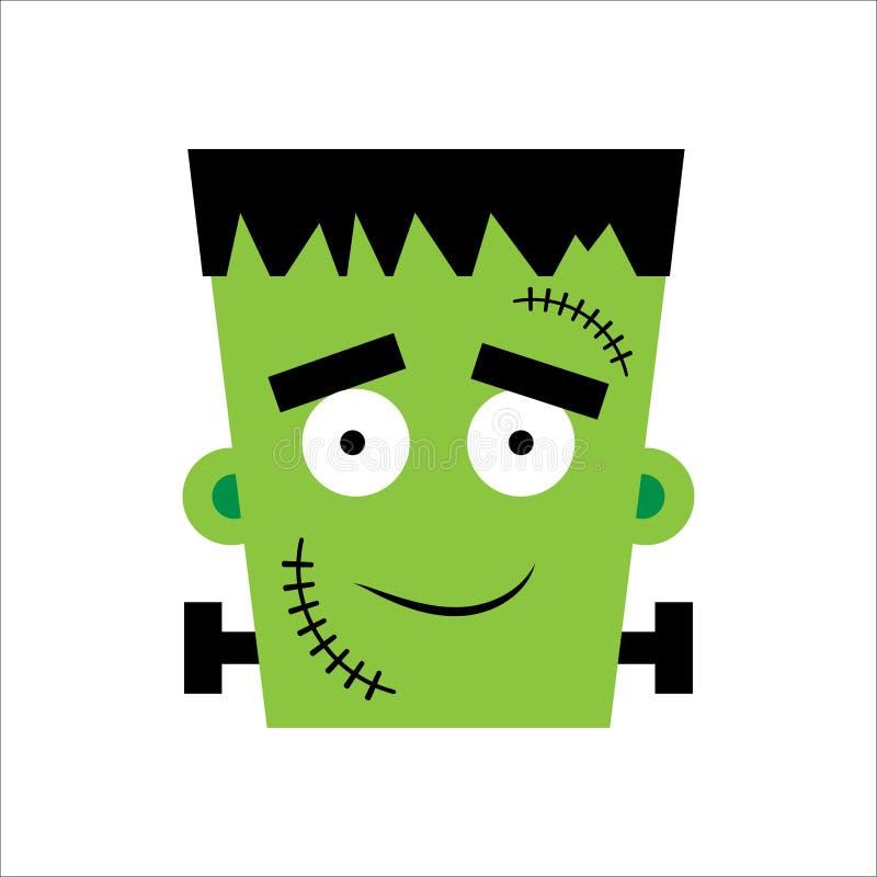 Иллюстрация вектора хеллоуина Frankenstein Счастливый день Frankenstein Иллюстрация для детей, карта хеллоуин, печать иллюстрация вектора