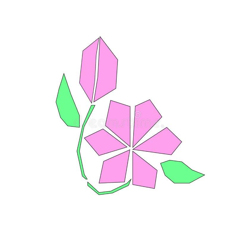 Иллюстрация вектора цветка логотипа бесплатная иллюстрация