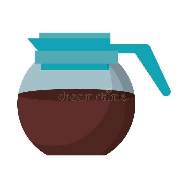 Иллюстрация вектора чайника кофеварки стеклянная иллюстрация штока