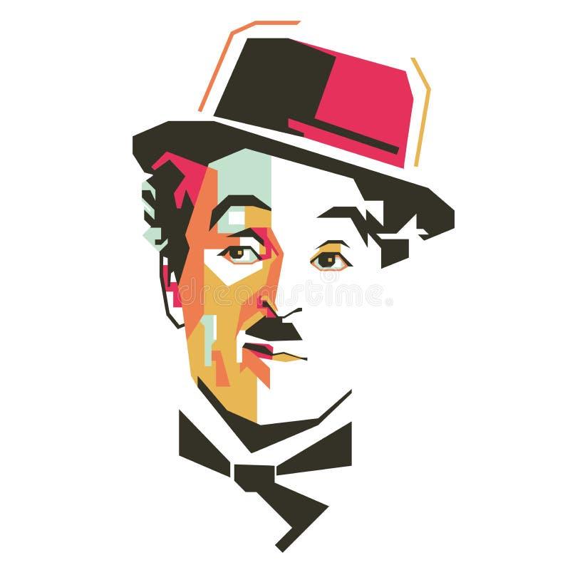 Иллюстрация вектора Чарли Чаплина простая бесплатная иллюстрация
