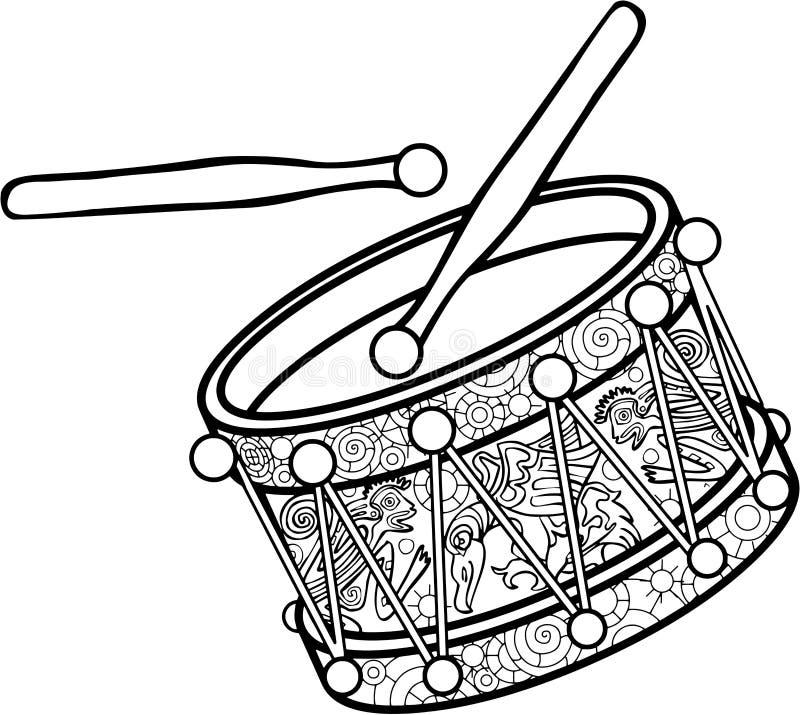 Иллюстрация вектора черно-белая иллюстрация штока