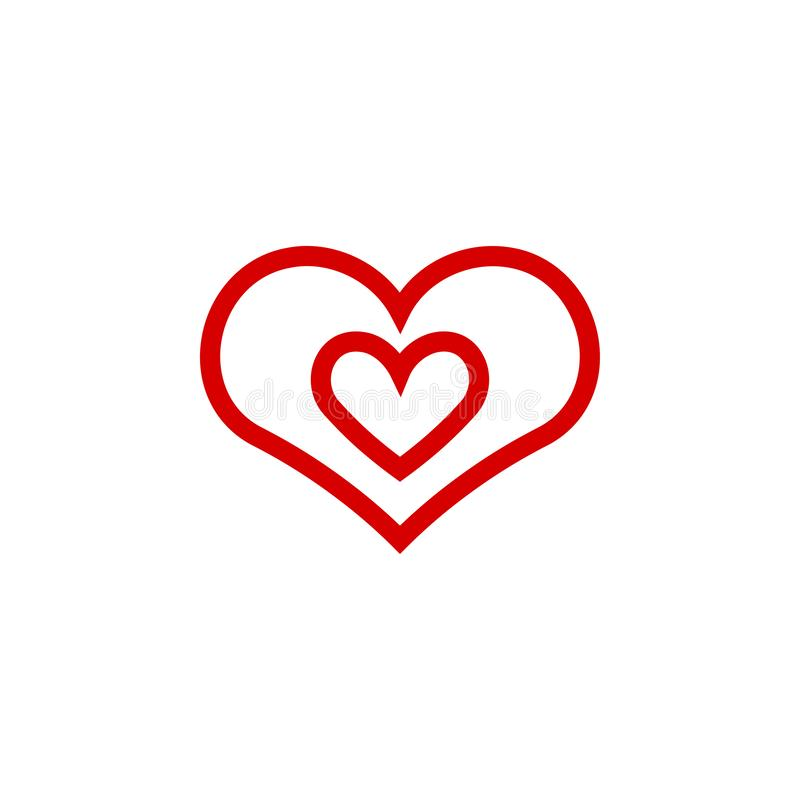 Иллюстрация вектора шаблона графического дизайна значка сердца иллюстрация штока