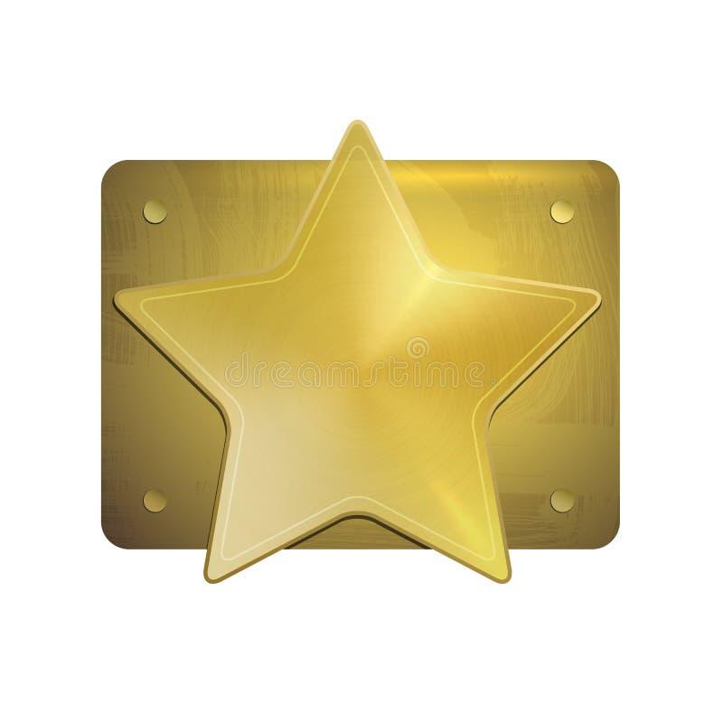 Иллюстрация вектора шаблона звезды шерифа золота иллюстрация штока