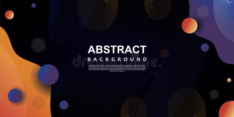 иллюстрация вектора шаблона ультрамодной предпосылки конспекта абстрактная с темными цветами иллюстрация штока