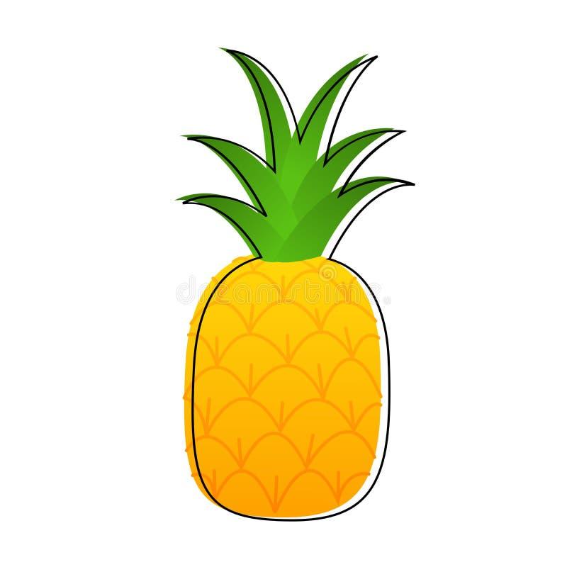 Иллюстрация вектора шаржа ананаса стоковая фотография