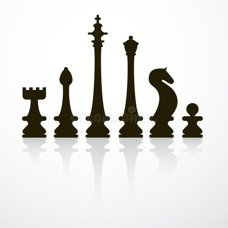 Иллюстрация вектора шахматных фигур бесплатная иллюстрация