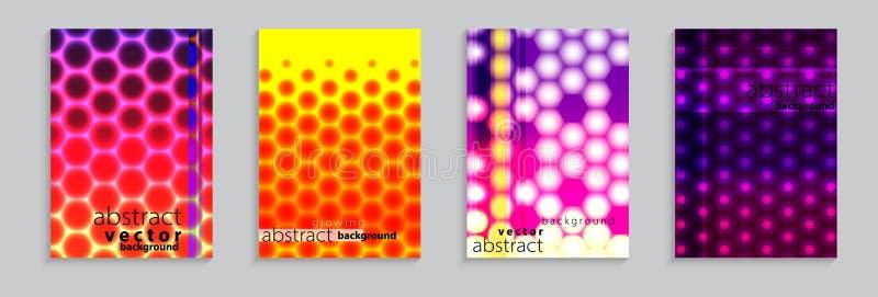 Иллюстрация вектора яркой предпосылки картины конспекта цвета с мотивом полутонового изображения для минимального динамического д иллюстрация штока