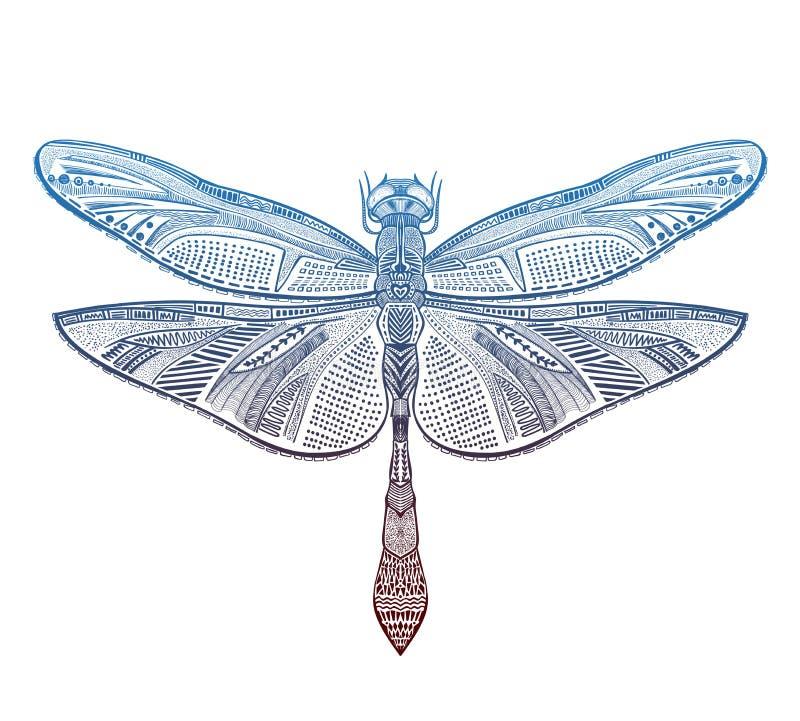 Иллюстрация вектора dragonfly искусства иллюстрация вектора