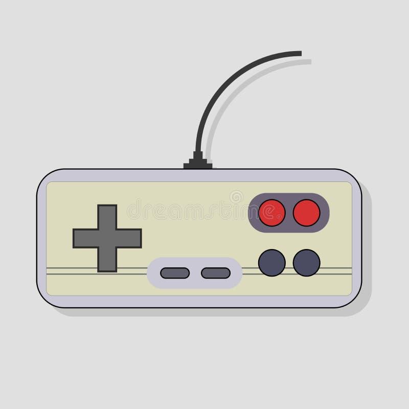 Иллюстрация вектора gamepad для видео игр иллюстрация штока