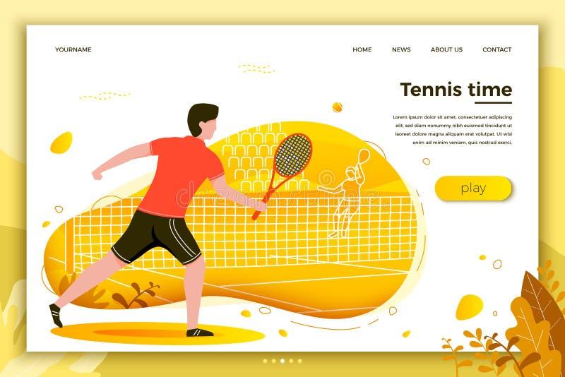 Иллюстрация вектора - sporty человек играя теннис иллюстрация вектора