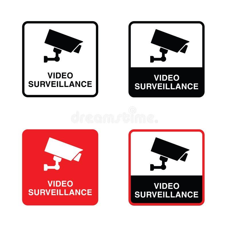 Иллюстрация видео- значка наблюдения установленная бесплатная иллюстрация