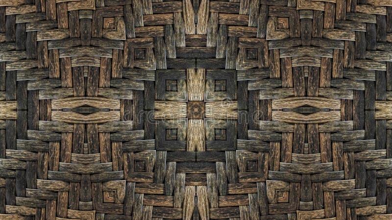 Иллюстрация влияния зеркала плетеной корзины иллюстрация вектора