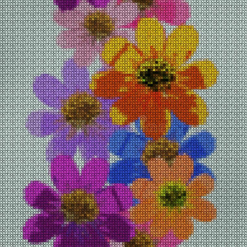 иллюстрация Вышивка крестиком Ноготк, officinalis calendula картина безшовная иллюстрация штока