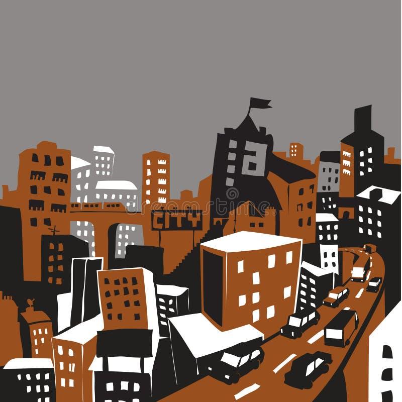 иллюстрация города иллюстрация штока