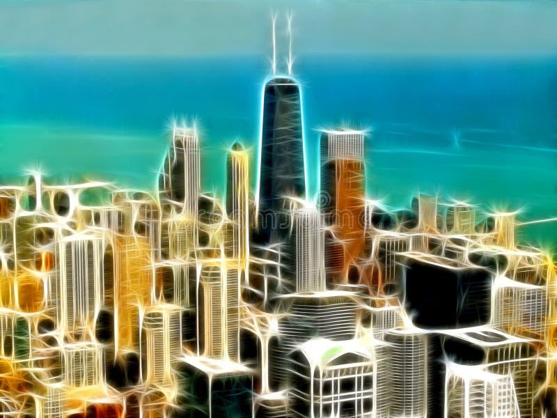 иллюстрация города chicago бесплатная иллюстрация