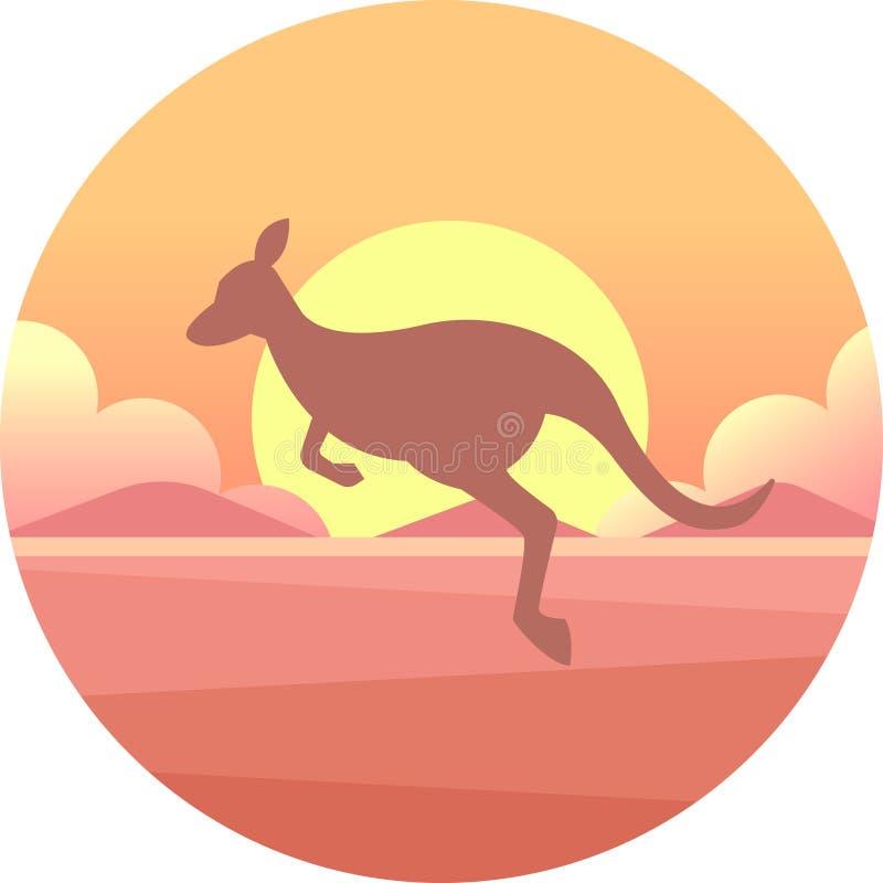 Иллюстрация градиента кенгуру иллюстрация вектора