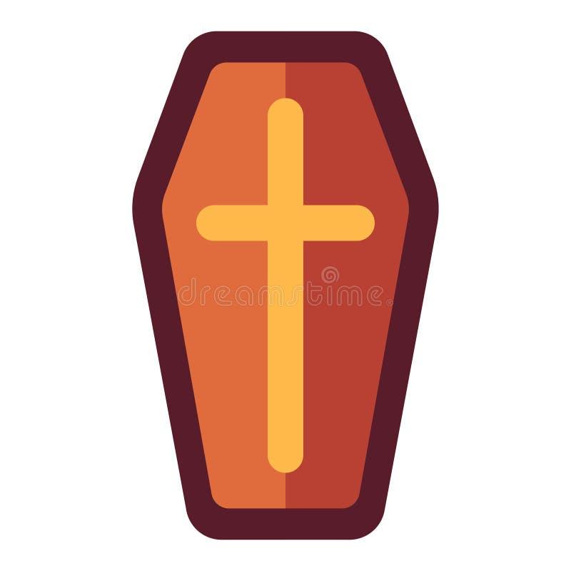 Иллюстрация гроба плоская иллюстрация штока