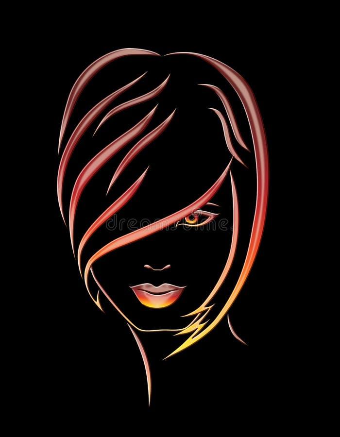 Иллюстрация девушки стоковое фото rf