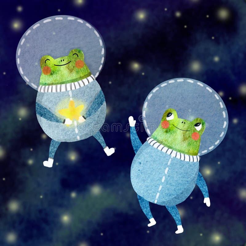 Иллюстрация детей жизнерадостного астронавта стоковые фото