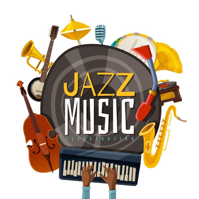 Иллюстрация джазовой музыки иллюстрация вектора