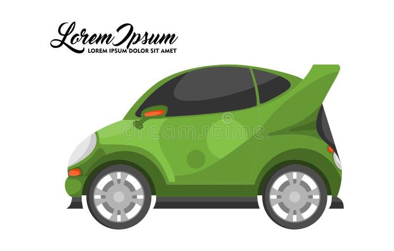 Иллюстрация дизайна автомобиля города, зеленой серии стоковые изображения rf