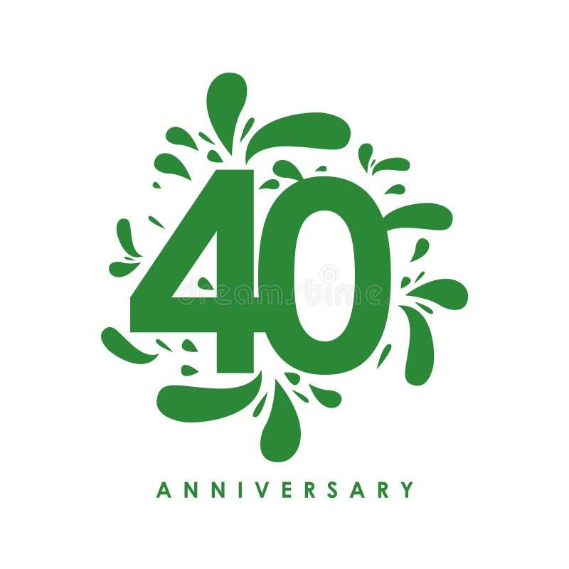 Иллюстрация дизайна вектора годовщины 40 год бесплатная иллюстрация