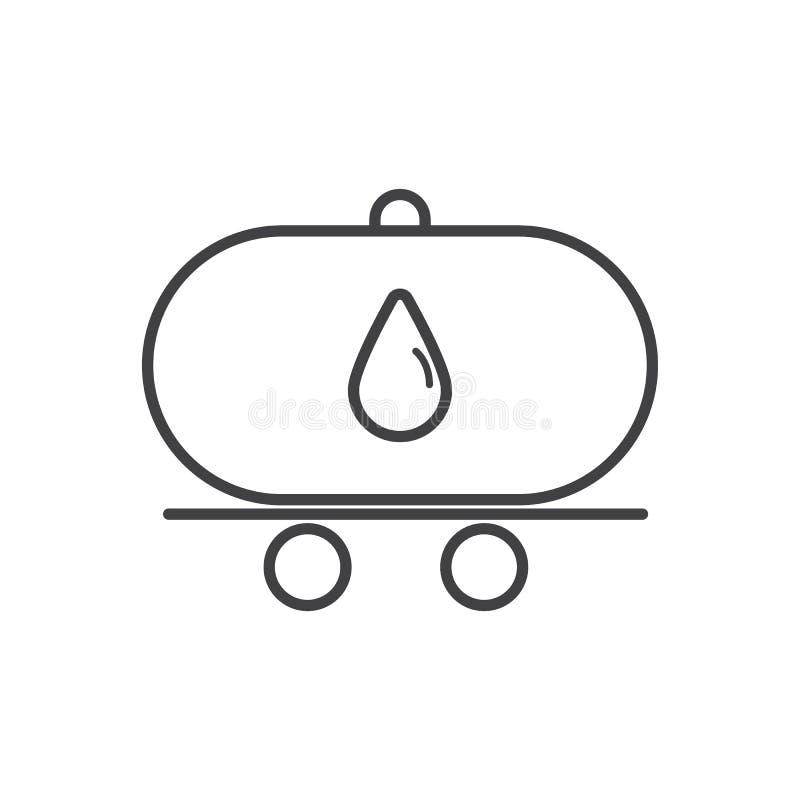 Иллюстрация дизайна вектора значка плана тележки нефтяного танкера иллюстрация штока