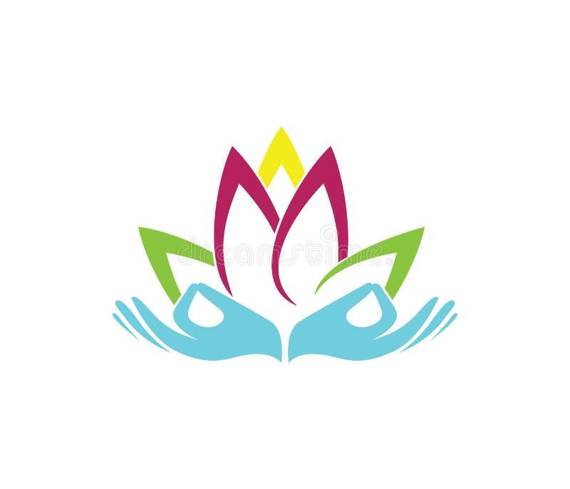 Иллюстрация дизайна логотипа вектора для центра здоровья красоты, класса тренировки йоги, духовный излечивать, салон красоты иллюстрация вектора