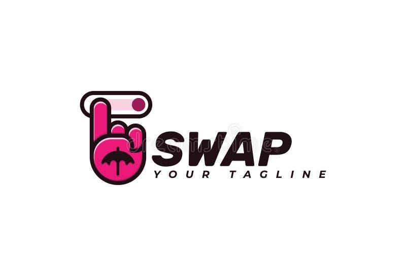 Иллюстрация дизайна логотипа значка руки обмена бесплатная иллюстрация