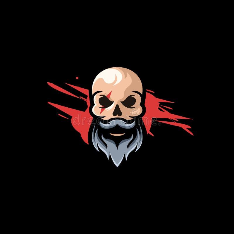 Иллюстрация дизайна логотипа черепа бесплатная иллюстрация