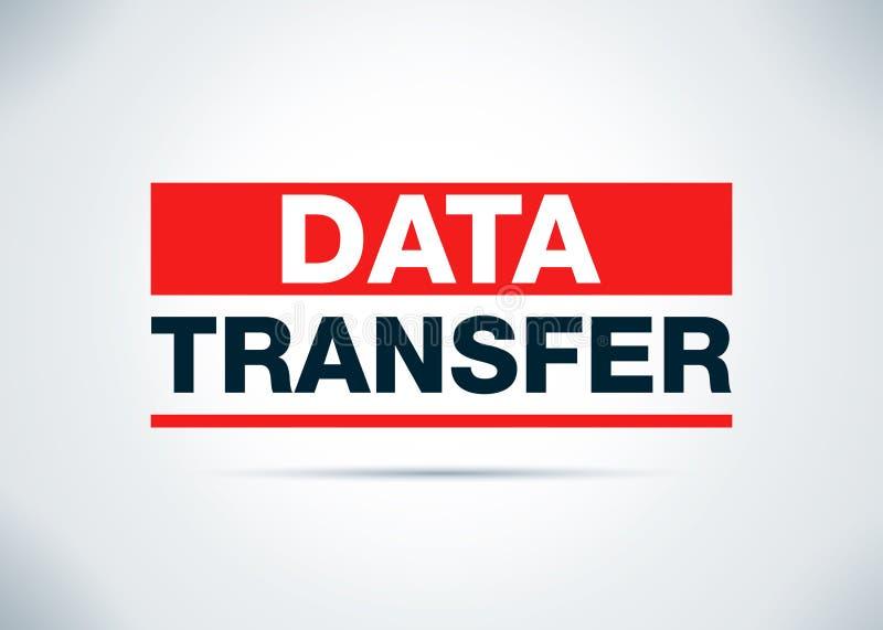 Иллюстрация дизайна предпосылки конспекта передачи данных плоская иллюстрация вектора
