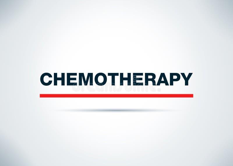 Иллюстрация дизайна предпосылки конспекта химиотерапии плоская иллюстрация вектора